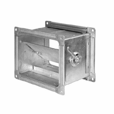 Дроссель клапан ДКП 150*100 (оц.ст. 0,55, шина 20-20)